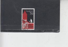 NORVEGIA  1971 - Unificato 583 - Diocesi Oslo - Usati