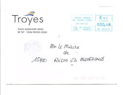 LETTRE DE MAIRIE DE TROYES AUBE - Marcophilie (Lettres)