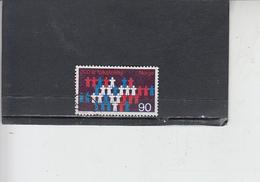 NORVEGIA  1969 - Unificato 557 - Censimento - Norvegia