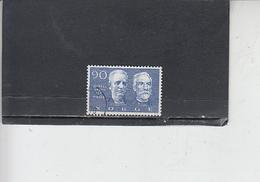 NORVEGIA  1968 - Unificato 533 - Nobel - Pace - Norvegia