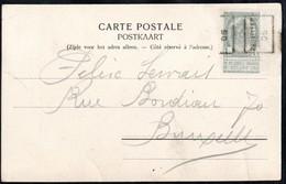Carte Illustrée (abbaye De Villers) Affranchie Avec Un Timbre Préoblitéré Envoyée De Bruxelles En 1905 - Precancels