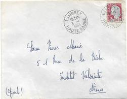 Cachet DISTRIBUTION HAUTE SAONE LAMBREY 1963 - Marcophilie (Lettres)