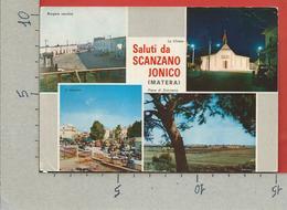 CARTOLINA VG ITALIA - Saluti Da SCANZANO JONICO (MT) - Vedutine Multivue - 10 X 15 - ANN. 1977 DROGA - Saluti Da.../ Gruss Aus...