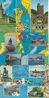 Denmark - Sweden. 3 Postcards. B-3590 - Maps