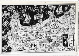 SAINT-CAST  Composition Originale Ed. Cassano (carte Géographique Fantaisie) - Other Municipalities
