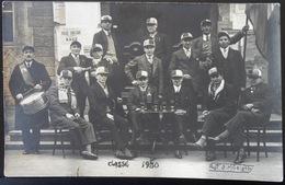 71 VILLE GUEUGNON CPA CARTE PHOTO 1930 CONSCRITS PHOTO S MARIOTTY - Gueugnon