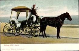 Cp Malta, Maltese Cab, Carrozzin, Pferdekutsche, Einergespann, Kutscher - Malta