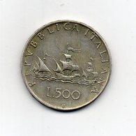 """ITALIA - 1959 - 500 Lire """"Caravelle"""" - Argento 835 - Peso 11 Grammi - (MW2193) - 1946-… : Repubblica"""