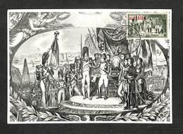 ALGÉRIE - Carte Maximum - NAPOLÉON Remet, Au Camp De Boulogne, Les Premières Légions D'Honneur Le 14 Août 1804 - 1954 - Cartes-maximum