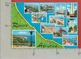 CARTOLINA VG ITALIA - RIVIERA ADRIATICA - Cartina Geografica - Vedutine Multivue - 10 X 15 - ANN. 1965 - Non Classificati