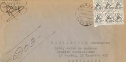 España. Carta Certificada Circulada De Foradada (Lleida) A Barcelona, El 7/10/1959. Rara. - A.E.F. (1936-1958)