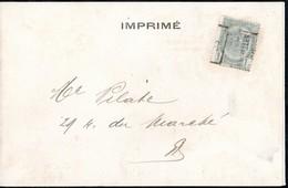 Carte Illustrée ( Liège Le Quai Sur Meuse ) Affranchie Avec Un Timbre Préoblitéré Envoyée De Bruxelles En 1905 - Precancels