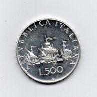 """ITALIA - 1966 - 500 Lire """"Caravelle"""" - Argento 835 - Peso 11 Grammi - (MW2196) - 1946-… : Repubblica"""