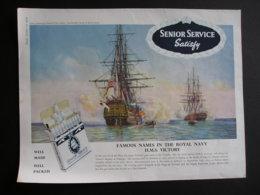 ORIGINAL 1959 MAGAZINE ADVERT FOR  SENIOR SERVICE CIGARETTES. HMS VICTORY - Other