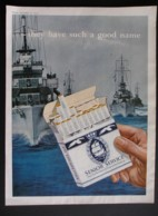 ORIGINAL 1954 MAGAZINE ADVERT FOR  SENIOR SERVICE CIGARETTES. - Sonstige