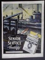 ORIGINAL 1957 MAGAZINE ADVERT FOR  SENIOR SERVICE CIGARETTES. - Advertising