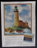 ORIGINAL 1951 MAGAZINE ADVERT FOR  CAPSTAN CIGARETTES.  LONGSTONES LIGHTHOUSE - Other