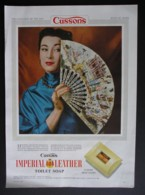 ORIGINAL 1954 MAGAZINE ADVERT FOR IMPERIAL LEATHER SOAP. FAN  SERIES . NO 6 - Advertising