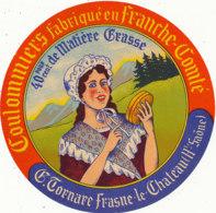 J C O 553 / ETIQUETTE DE FROMAGE  COULOMMIERS   TORNARE  FRASNE LE CHATEAU (HAUTE SAONE) - Formaggio