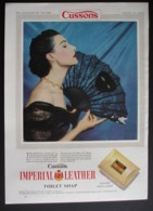 ORIGINAL 1954 MAGAZINE ADVERT FOR IMPERIAL LEATHER SOAP. FAN  SERIES . NO 4 - Advertising