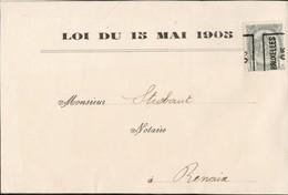 Petite Feuille Affranchie Avec Un Timbre Préoblitéré Envoyée De Bruxelles Vers Renaix En 1905 - Precancels