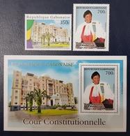GABON 2018 / 2019 COUR CONSTITUTIONNELLE CONSTITUTION JUSTICE JUGE COLLEGE - SET & SHEET BLOC- RARE MNH - Gabon