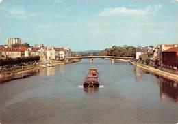 77 - Lagny - Lagny En Bordure De La Marne - Beau Cliché Du Pont - Passage D'une Péniche - Lagny Sur Marne