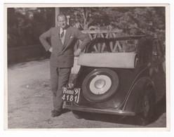 """AUTOMOBILE FIAT """" 500 TOPOLINO  """" - CAR - TARGATA ROMA - FOTOGRAFIA ORIGINALE - Automobili"""