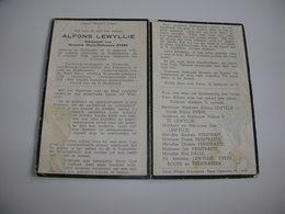 Rijkswachter Alfons Lewyllie (Hollebeke 1885-Middelkerke 1958);Oud-Brigade-Commandant Rijkswacht Te Leke En Middelkerke - Devotieprenten