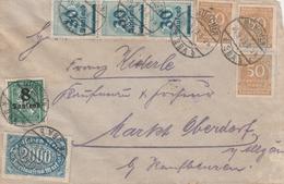 Allemagne Lettre Inflation München 1923 - Briefe U. Dokumente