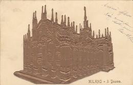 CARTOLINA - POSTCARD IN RILIEVO - MILANO - IL  DUOMO - VIAGGIATA PER BESOZZO ( VARESE) - Milano (Milan)