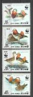 Korea North 1987 Mi 2855-2858 MNH WWF DUCKS - W.W.F.