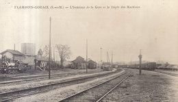 77 Flamboin Gouaix : Gare Et Dépot De Machines     /// REF   AVRIL. 19  /// BO 77 - Francia