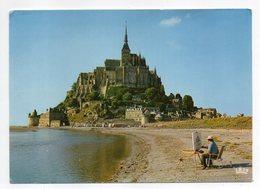 LE MONT SAINT MICHEL--Vue Générale ( Peintre Au 1er Plan ) .... à Saisir - Le Mont Saint Michel