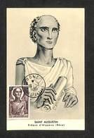 ALGÉRIE - Carte Maximum - BONE - SAINT AUGUSTIN - Evêque D'Hippone - 1955 - Cartes-maximum