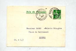 Carte Cachet Rennes Sur Moisson  Theme Faience Verrerie - Marcophilie (Lettres)