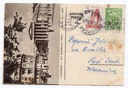 10 DINARA GREEN, 1959, SUBOTICA, MARSAL TITO SQUARE, YUGOSLAVIA, POSTAL STATIONERY,  USED - Serbia