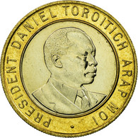 Monnaie, Kenya, 10 Shillings, 1995, British Royal Mint, SUP, Bi-Metallic, KM:27 - Kenya