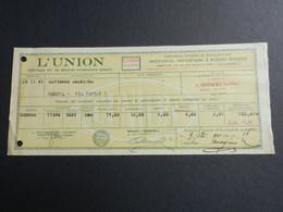 6c) L'UNION ASSICURAZIONI QUIETANZA PAGAMENTO 1941 - Italia