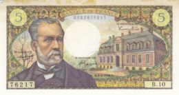 Billet 5 F Pasteur Du 5-5-1966 FAY 61.01 Alph. B.10 A VOIR - 1962-1997 ''Francs''