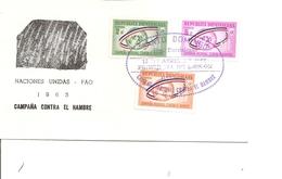 Contre La Faim ( FDC De Dominicaine De 1963 à Voir) - Against Starve