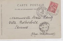 CP - N°124 - LYON Qier De MONTPLAISIR / 19 AVRIL 03 - Postmark Collection (Covers)