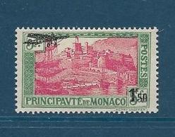 Timbres Neufs* De  Monaco, N° 1 Yt, Poste Aérienne 1933 Surchargé, Charnière Au Dos - Poste Aérienne