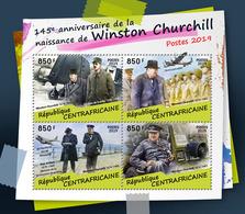 CENTRAL AFRICA 2019 - W. Churchill, Ch. De Gaulle. Official Issue - De Gaulle (Generale)
