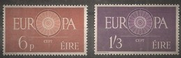 Irlande Ireland 1960 CEPT  Yvertn° 146-147 *** MNH Cote 50,00 Euro - 1949-... République D'Irlande