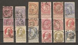 Belgique 1884/1905 - Léopold II - Petite Et Grosse Barbe - Petit Lot De 18° - Cachets - Chimay - Jemappes - Verviers... - Lots & Kiloware (mixtures) - Max. 999 Stamps