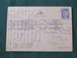 "Greece 1963 Postcard "" Athens - National Costumes "" To England - Archaeology Shepherd Carrying Calf - Griekenland"