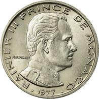 Monnaie, Monaco, Rainier III, Franc, 1977, SUP+, Nickel, KM:140 - Monaco