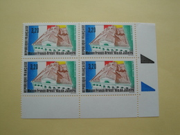 1990 France  Yv 2661 X 4 ** MNH -  France - Brésil Cote 6.00 € Michel 2797 SG 2992 - France