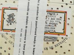 GUERRE 1914  - 1918 OORLOG WAR LIVRET D ÉPARGNE C. G. E. R SPAARBOEKJE BORGERHOUT ANTWERPEN BELGIQUE TIMBRES - 1914-18